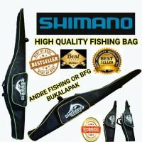 Menjual Tas Pancing SHIMANO 100cm Bahan Kail Tebal 3 Resleting Termura