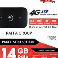 Modem WiFi MiFi Huawei E5573 Unlock 4G All GSM Free Telkomsel 14GB