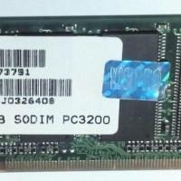 Ram Laptop 256 DDR1 PC 3200 VISPRO SO-DIMM Sodimm Sodim Memory Memori