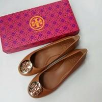 Sepatu Tory Burch Original - Tb reva ballet tumbled royal tan