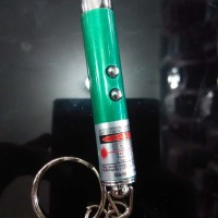 Lampu Senter LED Key Ring 2in1 Laser Mini Pointer Super Bright LED