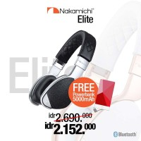 Nakamichi Elite Hi-Defination Headphone Bluetooth- Hitam