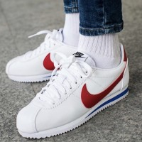 Nike Cortez Leather White Red Blue