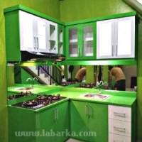 Kitchen Set Minimalis Warna Hijau di Semarang