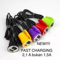 CHARGER HP DI AKI/DI KUNCI MOTOR/CHARGER USB MOTOR FAST CHARGING 2,1A