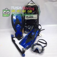 TUSA Mask+Snorkel+Fin Visio Tri-Ex Adut Travel Set UP-3521QB MB Diving