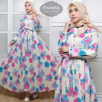 Gamis Wanita Baru Monalisa fahira Cream [Hijab 0105] QLF