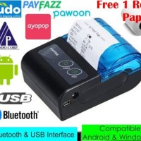 Bluetooth Portable Thermal Printer Kasir POS 58 mm CX58B