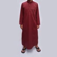 Jual Jubah Saudi Maroon / Gamis Pria / Baju Muslim FJ014 Murah
