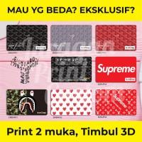Kartu Etoll custom 3D Timbul Supreme Goyard Bape Emoney Brizzi