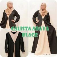 Gamis Wanita Baju Syari CALISTA ABAYA BLACK Busana Muslim