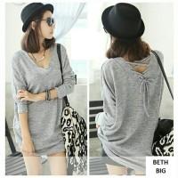 Baju WANITA baju murah Blouse Jumbo (XL - Fit XXL) BETH - Spandek