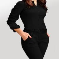 DRESS MURAH Baju wanita simply jumsuit Pakaian Wanita Ukuran Besar