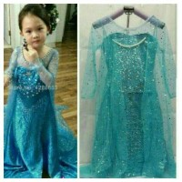 NEW ARRIVAL Dress Baju Frozen Elsa Premium Glitter Full Payet