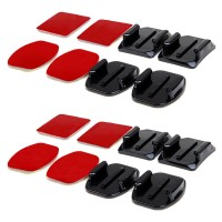Curved and Flat Surface Mount 3M Adhesive 8PCS for GoPro & Xiaomi Yi