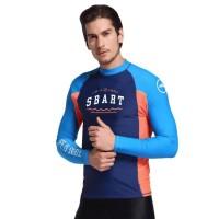 Baju Renang Rashguard Wetsuit Biru Orange