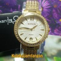 JAM TANGAN WANITA BONIA BNR118-2213S SAPHIRE GOLD ORIGINAL MURAH