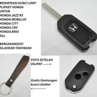 Casing Kunci Lipat Flip Key Mobil Honda Jazz mobilio brio CRV freed