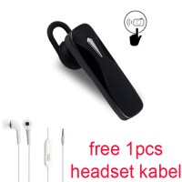 Handsfree Bluetooth+Headset kabel For Samsung Galaxy A5/A7(2017)-hitam