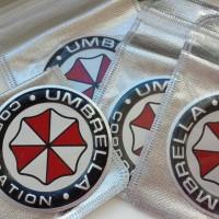 3D Alumunium alloy Umbrella corporation sticker Car Sticker
