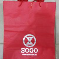 Paperbag / Paper Bag / Tas Karton Sogo Merah Besar Lungset