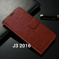Flip Cover Samsung Galaxy J3 2016 J32016 Wallet Leather Case Casing