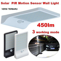 Solar Motion Light 36 LED, lampu surya Type Pillar + Extender Bracket