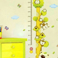 wallpaper wall sticker ukur tinggi badan anak motif burung hantu