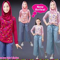 (7-12th) Baju Setelan Muslim Anak Perempuan Lp Banana Celana Kulot