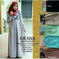 KIRANA DRESS l- maxy dress - baju kerja wanita - busana muslim - gamis