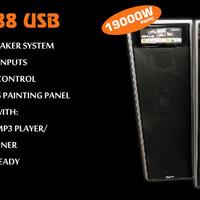 Speaker Plasma 6 inch double Rock 88 USB / Speaker 6
