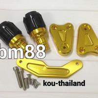Anti Crash Pelindung Knalpot Nmax Aerox CNC Thailand - Exhaust Slider