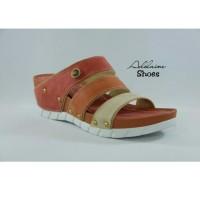 Sandal Wedges wanita casual formal trendy ringan SHOE UNLIMITED CH 605