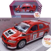 Kinsmart Miniatur Mobil Street Fighter Mitsubishi Lancer Evo Red