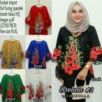 brenda 2 blouse bordir by Farzolla