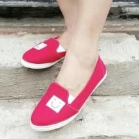 Flat Shoes Sepatu Jalan Santai Smile Merah T2909 fcda828aa4