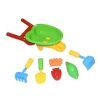 mainan ember cetakan pasir pantai import dengan gerobak