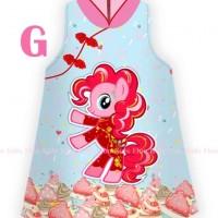 Dress anak Baju Cheongsam Imlek Pinky Pie My Little Pony 2 - 6 th
