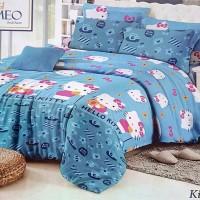 Sprei Romeo ukuran 100 x 200 - Hello Kitty Blue