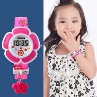 Jam Tangan Anak Anak Cewek Perempuan Bentuk Bunga SKMEI 1144 Original