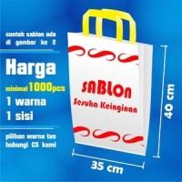Tas Plastik Sablon Logo Toko Distro Warna (Custom-PO)Ukn 35 cm x 40 cm