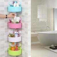 Triangle shelves/ Rak sudut tempat sabun serbaguna
