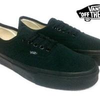 Sepatu Casual Pria Vans Authentic Import Ifc Double Foxing Full Black