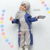 baju muslim anak perempuan I pusat baju anak online I Gisela set 1-6