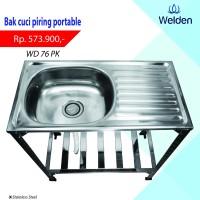 Bak Cuci Piring Kaki Sink Portable Meja Welden 76PK