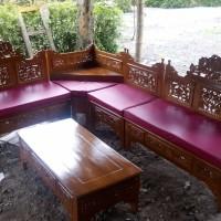 FREE ONGKIR Kursi Sudut Mahkota Kayu Jati Finishing Melamine