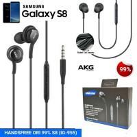 HANDSFREE / HEADPHONE / EARPHONE / HEADSET SAMSUNG ORI 99% S8 (IG-955)