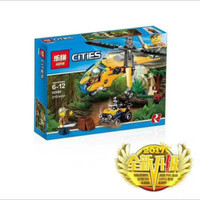 MAINAN LEGO BRICK CITIES 02080 JUNGLE RESCUE HELICOPTER