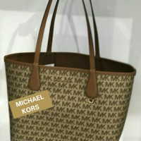 560e78b761a0 TAS MICHAEL KORS CANDY L REVERSIBLE WITH POUCH BROWN ORIGINAL 100% OR
