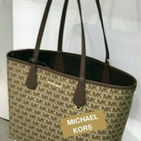 446dcd883353 TAS MICHAEL KORS CANDY L REVERSIBLE WITH POUCH LIGHT BROWN ORIGINAL 1